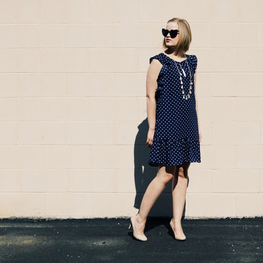 with-the-specs | affordable-style-blog | polka-dot-dress