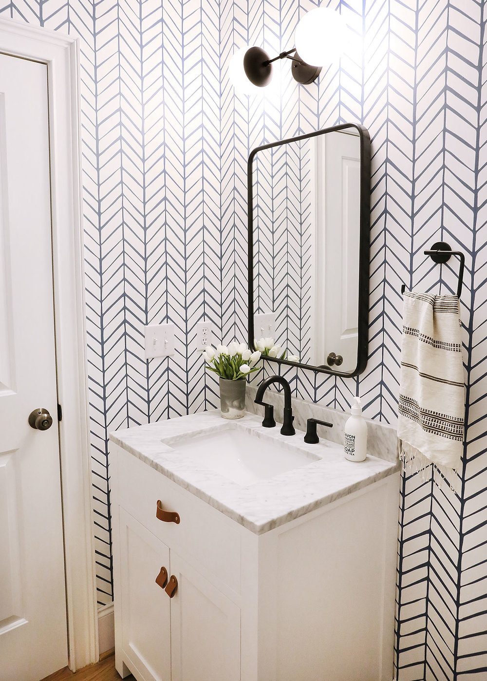 A Fun Graphic Powder Room Reveal Sunny Circle Studio