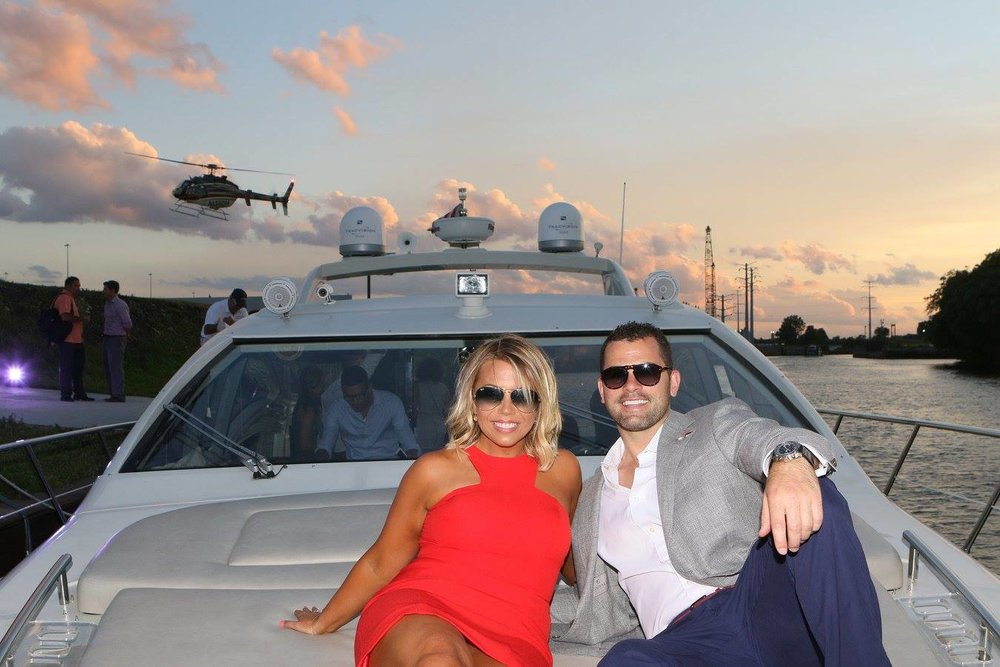 Heli-Yacht - What to live like a the King of Brunei...this is the package for you. Sail around chicago, dock at our heliport and have the flight of your life.