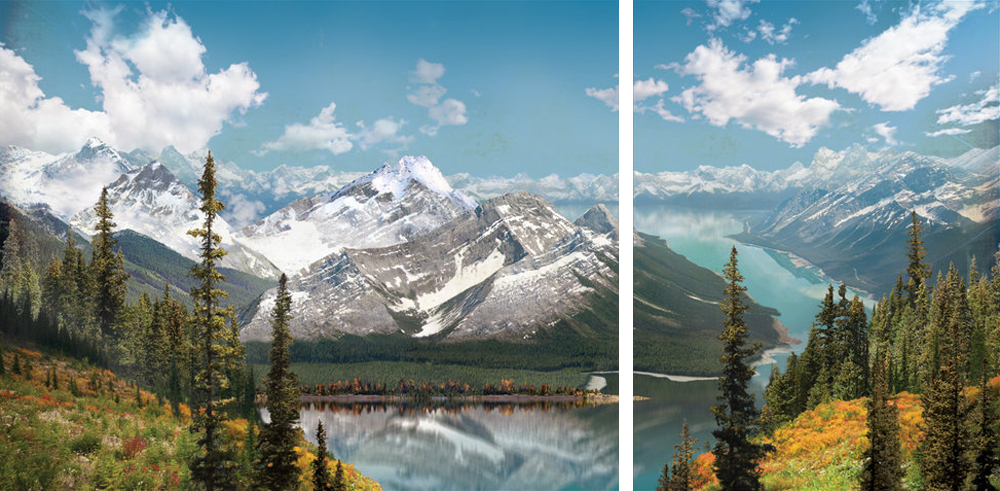 Flight through the Rockies #2 diptych
