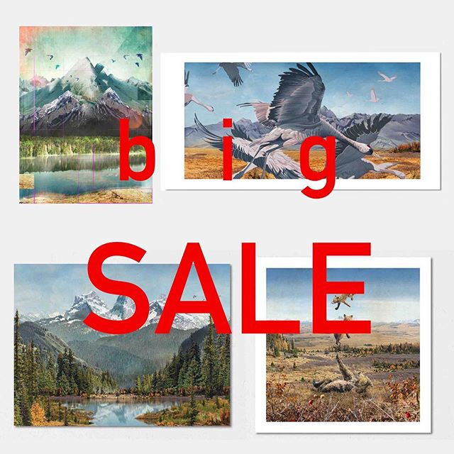 Everything is on sale. If you're not on the mailing list, now you know.  I'm getting rid of stock to make room for new projects, prints are selling out fast!  Link in profile.