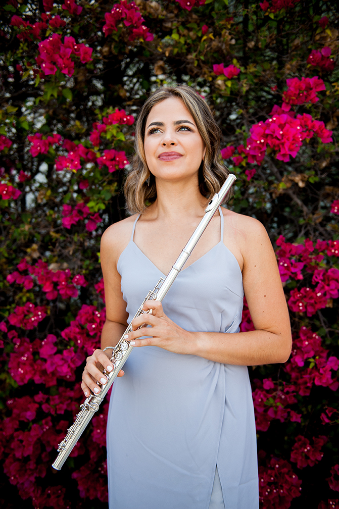 Meet Luisa  - A native of Puerto Rico, Luisa Cartagena is a freelance flutist and music educator currently based in Los Angeles, CA. Known for her versatility of styles and advocacy for music education, Ms. Cartagena performs regularly with various chamber groups in the area, runs her private flute studio, and serves as Band Director of the St. James Episcopal School. She regularly serves as adjudicator and flute coach for flute competitions and band programs all around the Southern California area. She holds a Bachelor's degree in Professional Music from Berklee College of Music and a Master's degree in Music Education from the University of Massachusetts in Amherst. Her flute teachers include Ana Maria Hernandez, Wendy Rolfe, Robert Willoughby, and Chris Krueger.