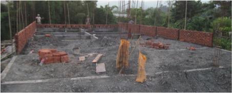 Valveng Presbyterian Church building construction in progress