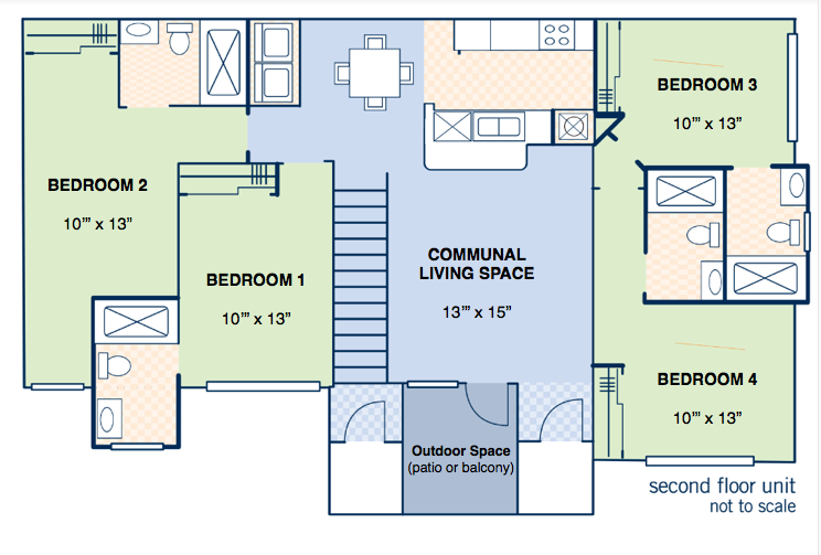4 Bedroom Layout - APPROX. 1571 SQ.FT.