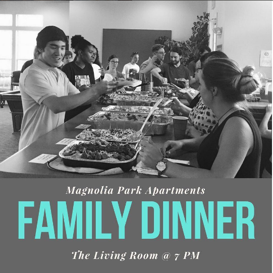 Family Dinner Past Event Magnolia Park Georgia, Off Campus Student Living Apartments, Miledgeville, GA.jpg