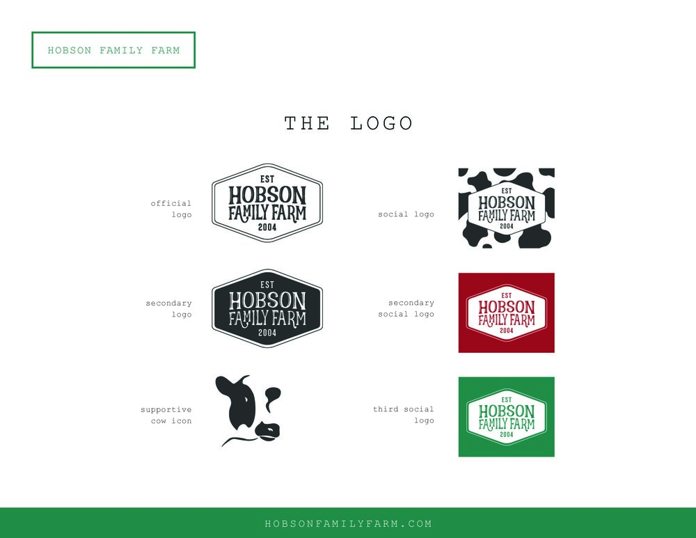 Brand Guide Hobson Family Farm