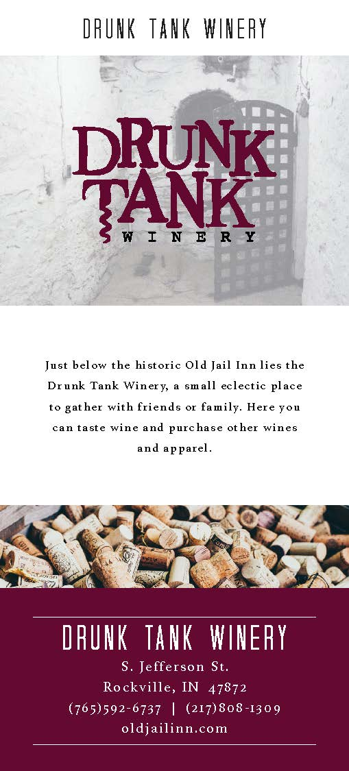 Rack Card Drunk Tank Winery