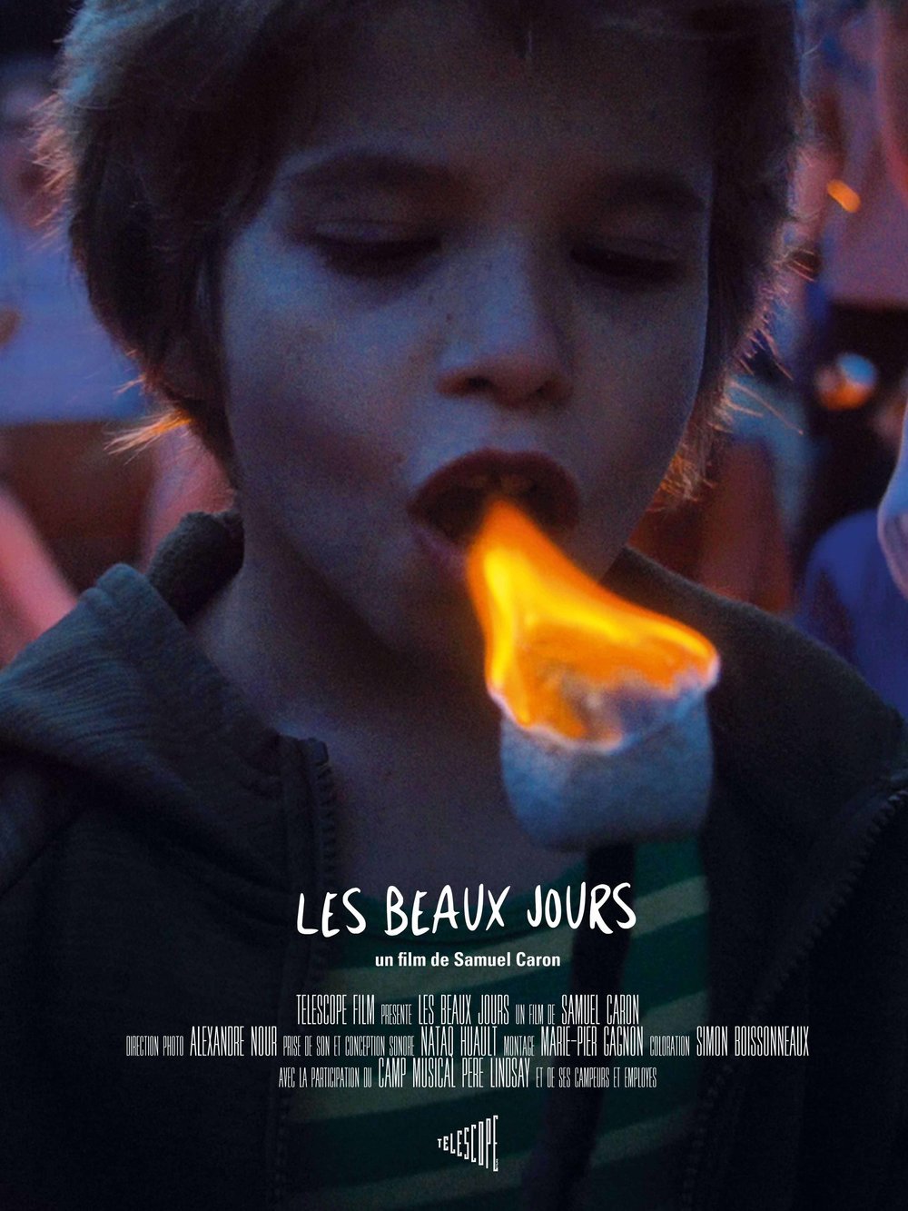 Les Beaux Jours (2017) - Documentary, Musical Synopsis Through the banal adventures and musical performances of the children in a musical camp in Lanaudière, Quebec, this series of contemplative frescoes offers a nostalgic view of a childhood bathed in sunlight and nature. Director : Samuel CaronProducteur : Samuel CaronCinematographer : Alexandre NourEditor :  Marie-pier GrignonSound Designer : Nataq Hualt