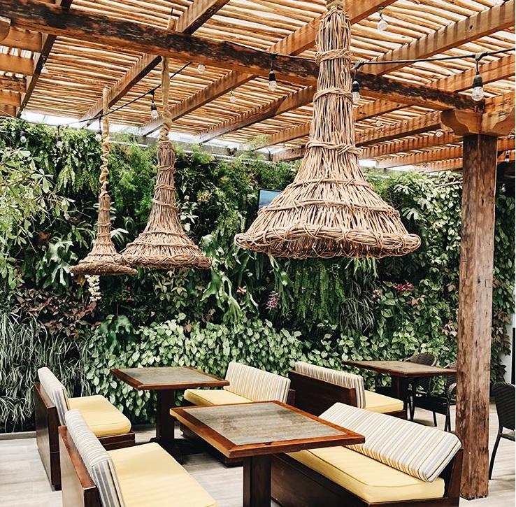 CASA ROSADA - MANTA - Sistema: Jardín Vertical - Bioparametro®, riego automáticoPaisajismo: @kv_wallsFoto: @dianexg
