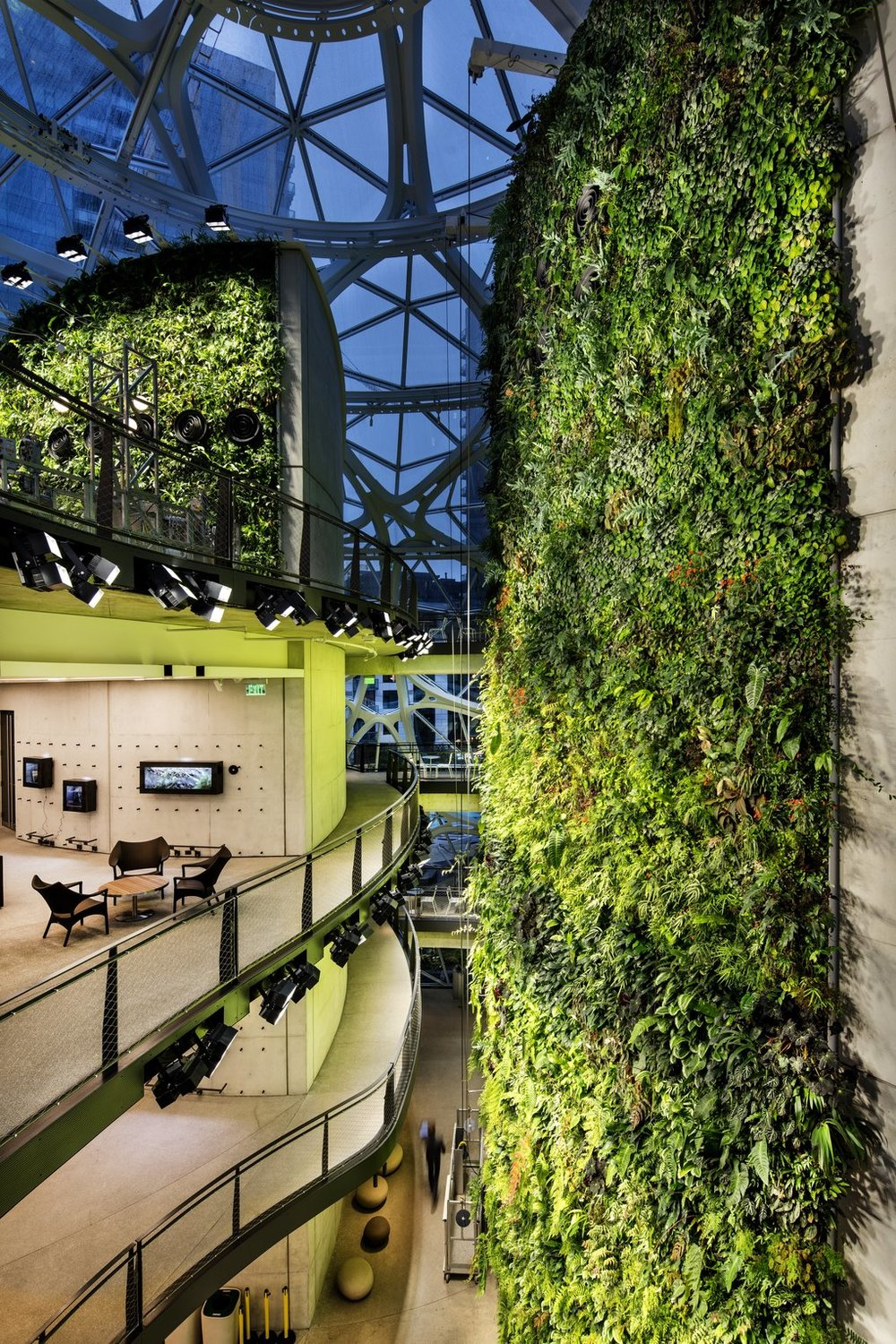 Amazon spheres - living wall
