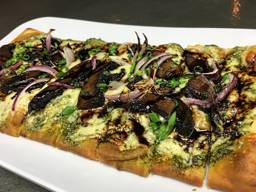 Pesto Portabello Flatbread