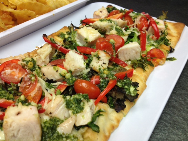 Chicken Basil Flatbread