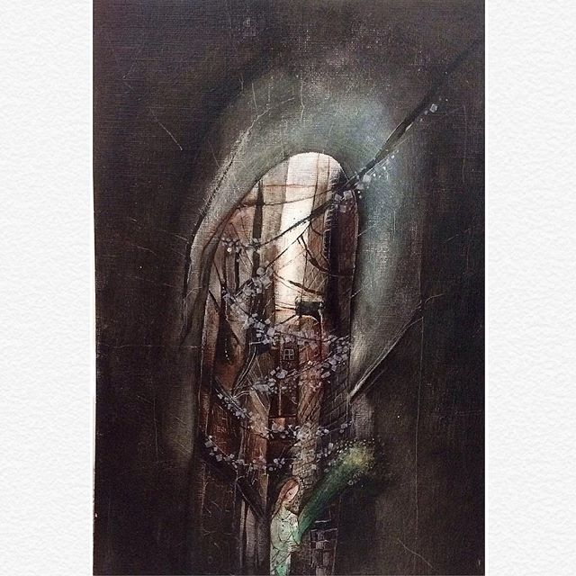 .................................🌖'Dark Streets' . 🌗Persephone . 🌘full picture 🌑selling at Churchgate gallery . 🌚link in bio🌚 . . #drawing #artlife #artforsale #fantasyart #fairytale #art #artist #instaart #instaartist #illustration #illustrationoftheday #design #dark #painting #persephone #greekmythology #goddess #mythical #urban #urbanart #city #winter #flowers #girl #artistsoninstagram #whimsicalart #hope #sad #ink #black