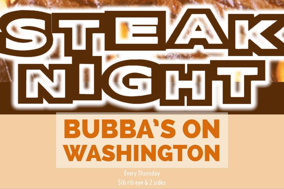 Thirsty Thursdays & Steak Night - $16 rib-eye and 2 sides!