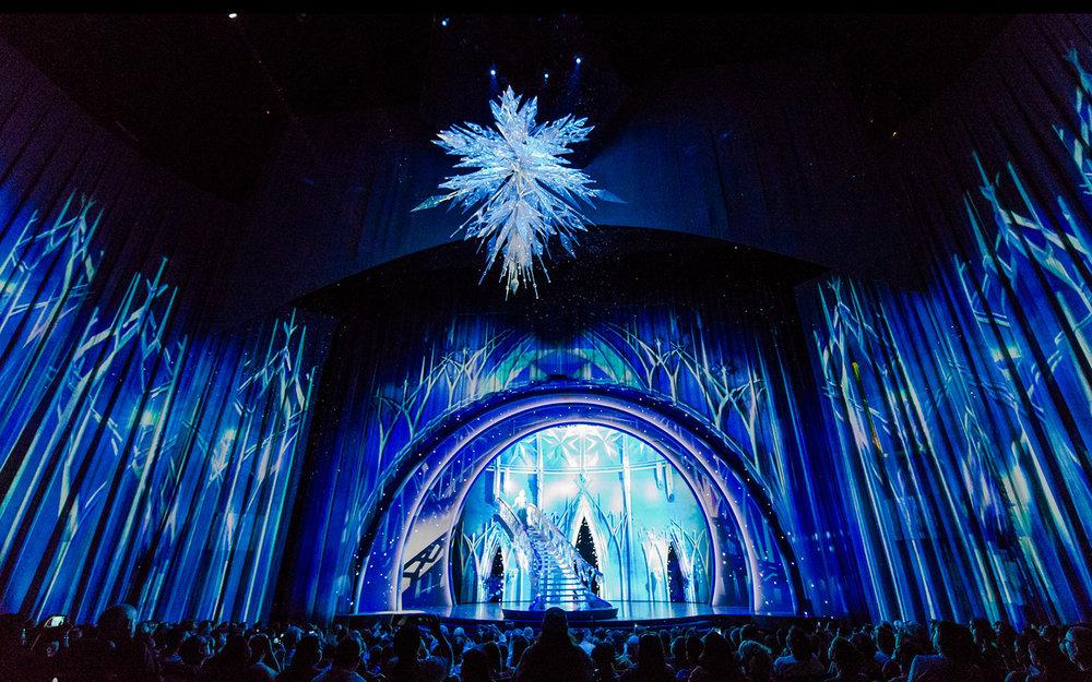 Frozen, Disney Hyperion Theatre | Set Designer: Robert Brill