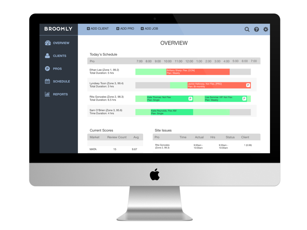 SaaS CRM Software Redesign - Helping Broomly pivot to SaaS with redesigned CRM software.