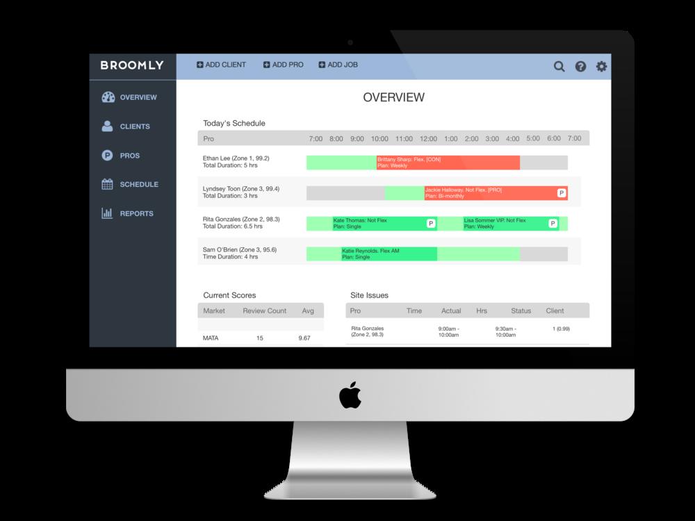 SaaS CRM Software Redesign - Helping Broomly pivot to SaaS with redesigned CRM software.