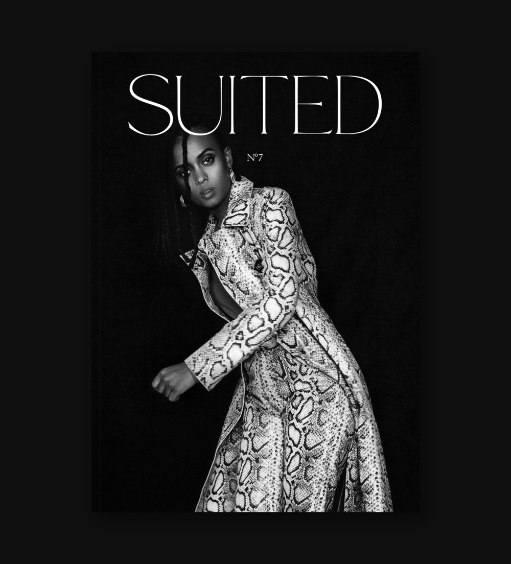 COVER – KELELA  - Suited is a biannual fashion and art publication with a singular mission in mind: to celebrate those who have found what they are well-suited for.For the 7th issue cover, Justin French photographed Kelela, an Ethiopian-American singer who communicates through her music and opens the door for others to answer with their own creations. Coming from an underground club music culture, her sound is equal parts dance and R&B. An organic heart with digital armor, she chooses her collaborators carefully. It's her dedication to her craft that allows her to zero in on her discoveries, yet see the power in sharing knowledge with her peers.