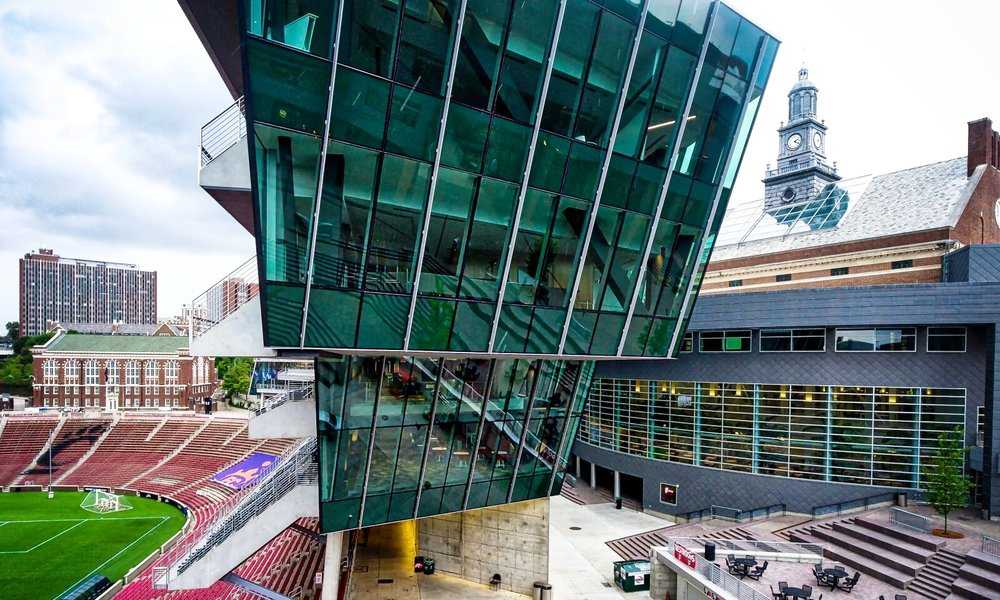 Unprecedented Design Freedom - VS1 allows designers to achieve unique enclosure designs in conjunction with long clear spans. The outward-tilting rhombic shape of the Nippert Stadium facade is an example.Pictured: Nippert Stadium at University of Cincinnati