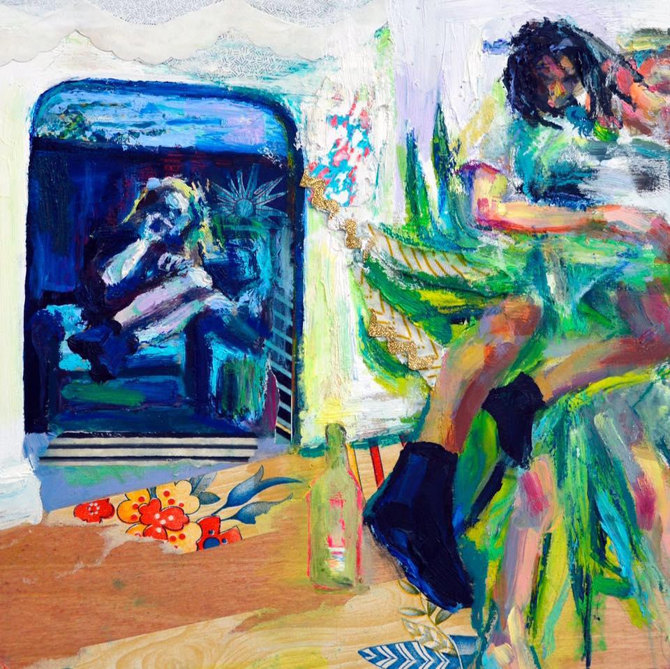 "Album art commission for  ""Prayer Starter,"" album by The Florists"