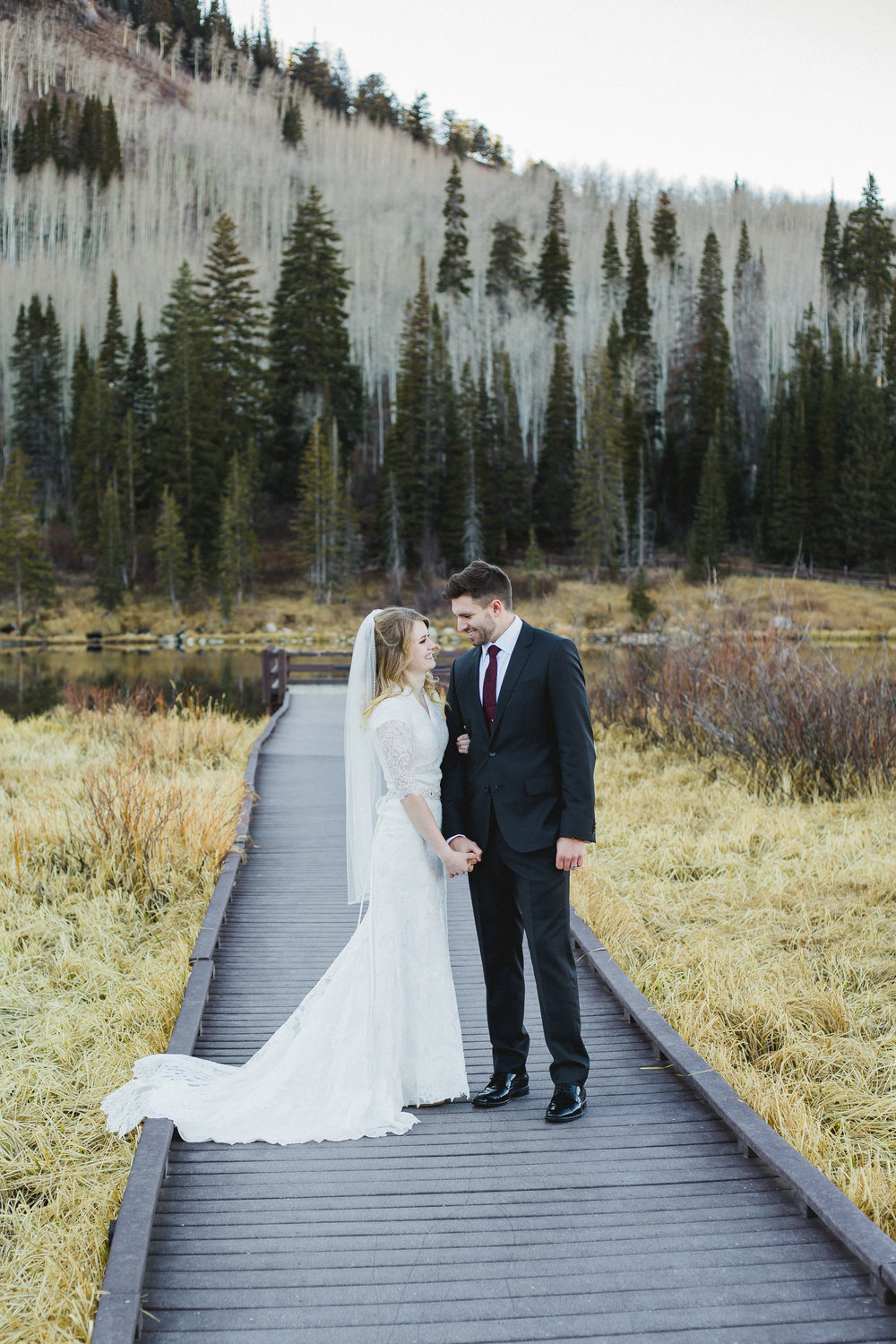 Courtney Volksen Photography | Utah Mountain Bridal Session Silver Lake