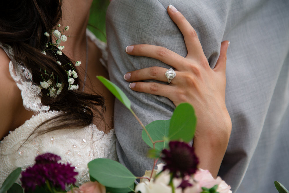 Courtney Volksen Photography | Zion National Park summer wedding ring & gorgeous florals