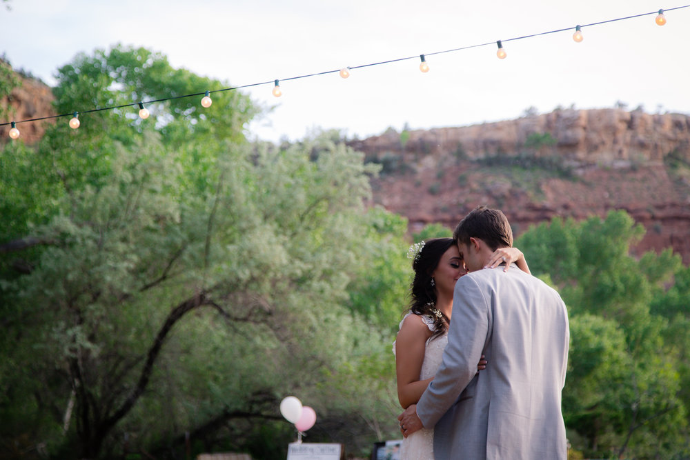 Courtney Volksen Photography | First dance as husband & wife near Zion National Park