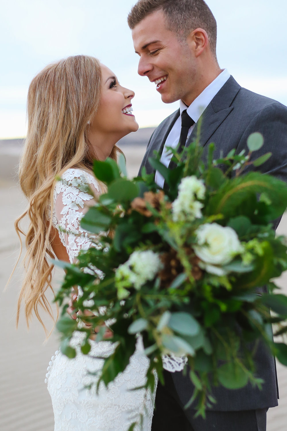 Courtney Volksen Photography | Idaho sand dune bridals with gorgeous couple near Rexburg Idaho