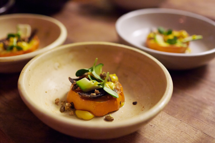 Confit Squash | Hazelnuts | Zucchini flowers