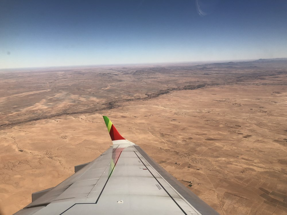 The view of Morocco from our airplane