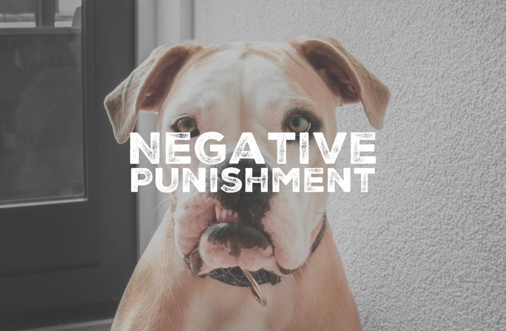 Negative Punishment