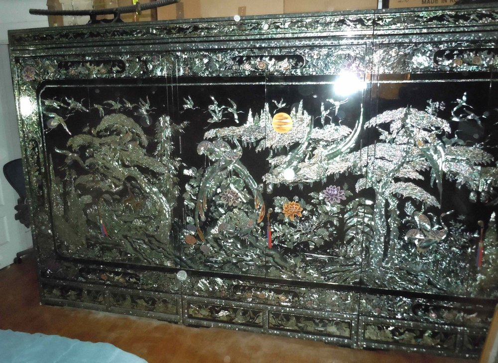 Korean Lacquer U0026 Mother Of Pearl Furniture