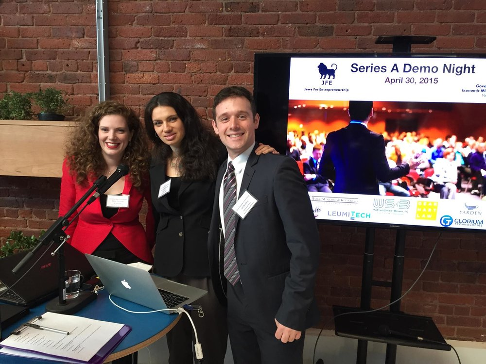 Series A Pitch event in partnership with Israel Economic Mission, New York City, 2015.