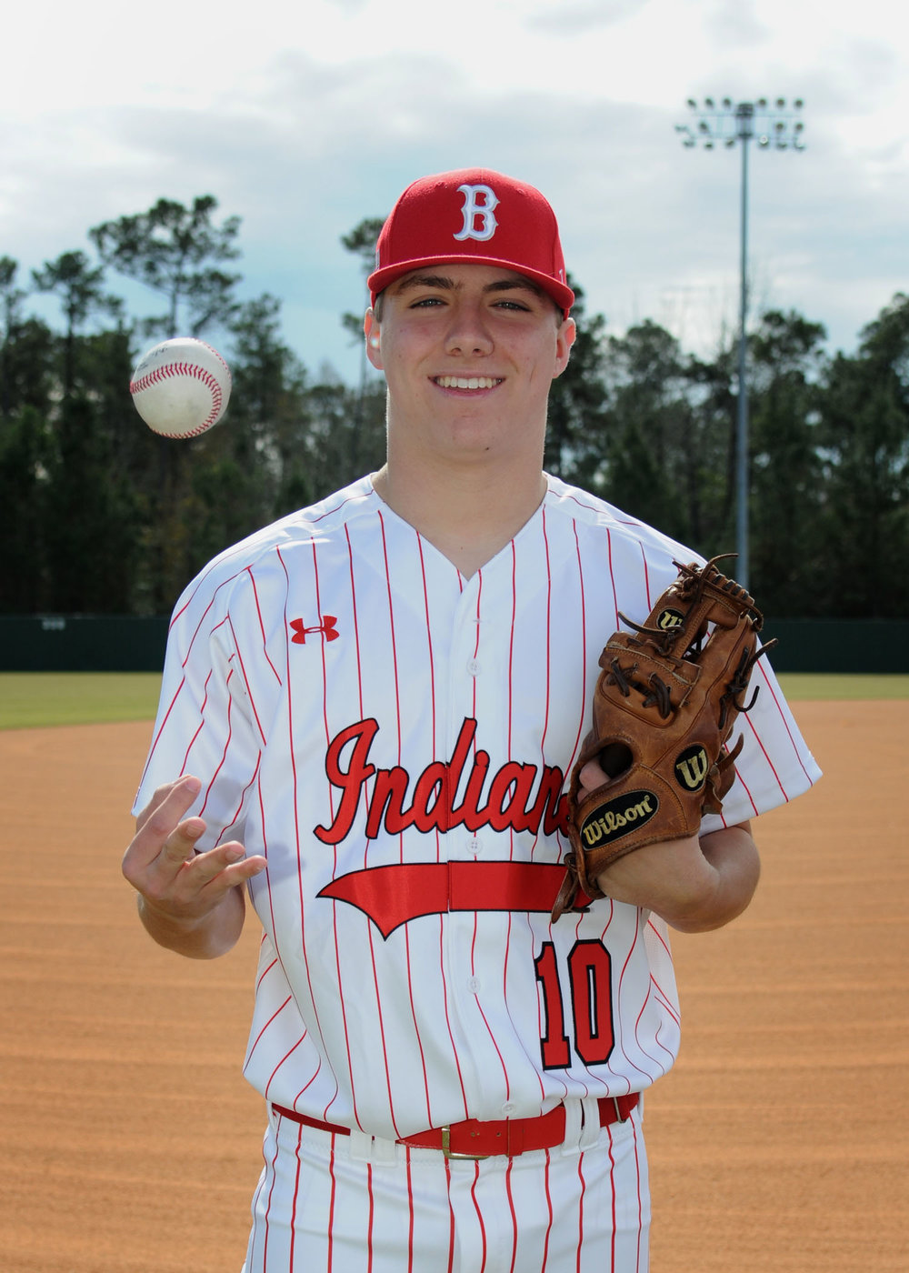 Brodie King  #10 - Name: Brodie King Parents: David and Carva KingBio: Brodie is a four year member of the BHS baseball team. He has one younger brother named Brandon and he also played football for the Indians.What BHS Baseball has taught me: Brodie has learned that Hard Work will always pay off in the end.