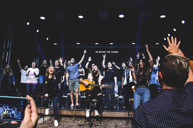 We loved sharing our song stories and having  unplugged worship at our album release party!  _ Check out our full album on Apple Music and Spotify today!  _ #foryourkingdom ⚡️