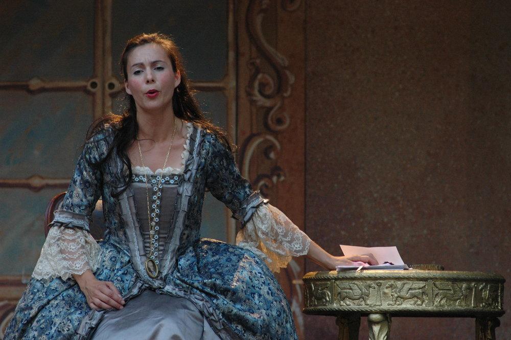As La Contessa Almaviva in Mozart's  Le Nozze di Figaro.