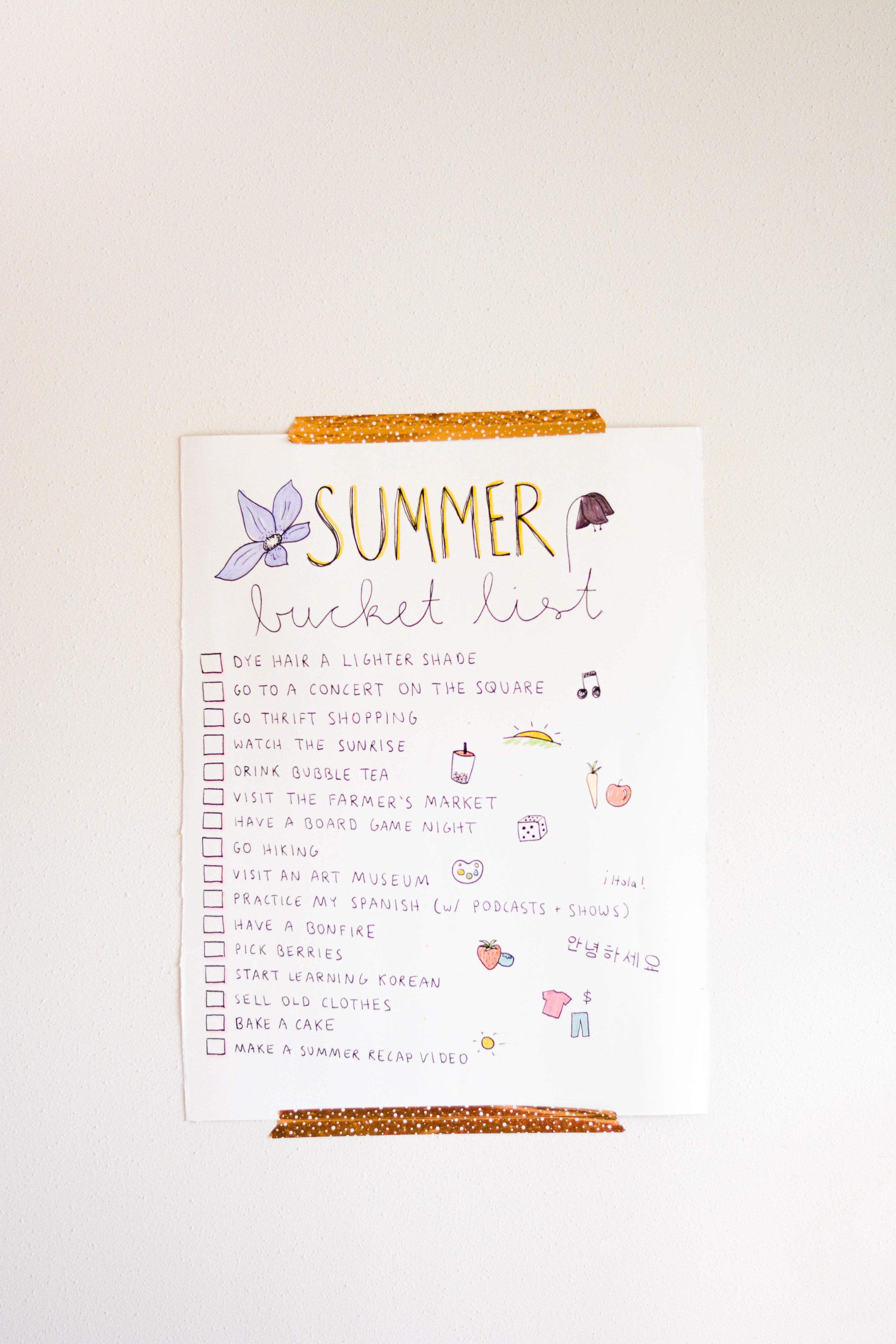 My Summer Bucket List For 2018 The Bliss Bean