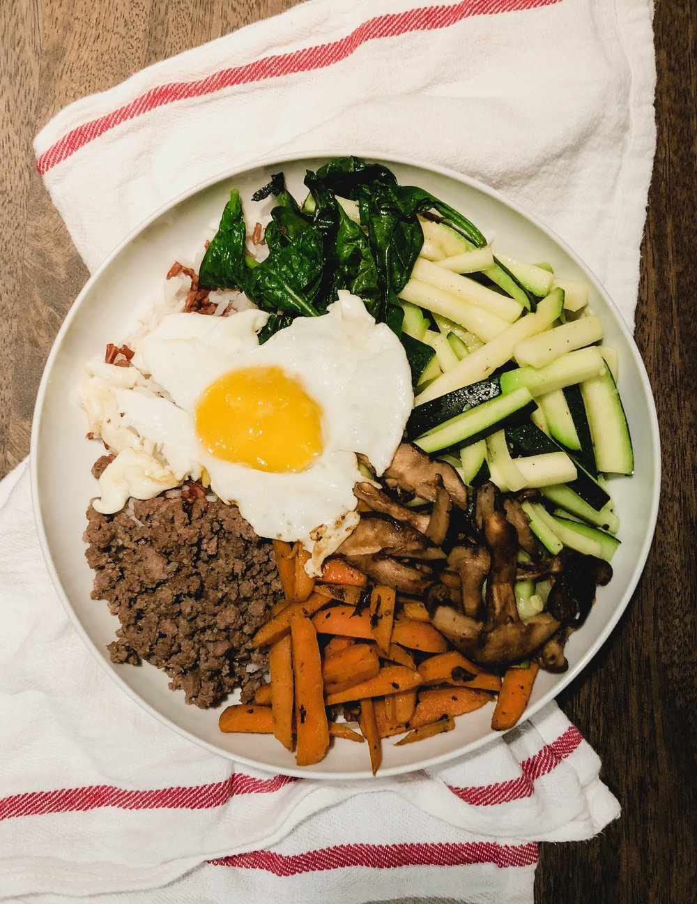The legendary bibimbap my friends and I made.