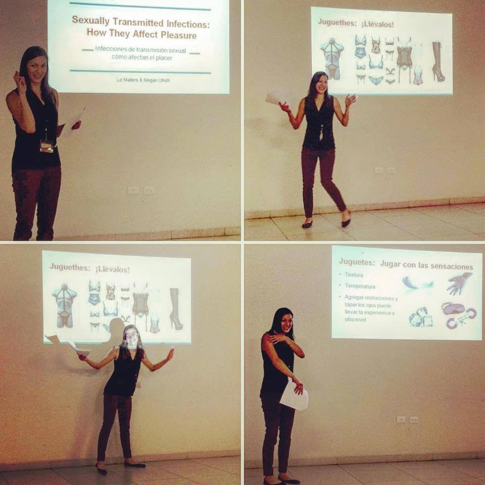 Co-Presenting an original talk on STIs and how they affect sexual pleasure in Puebla, Mexico on March 11, 2016.