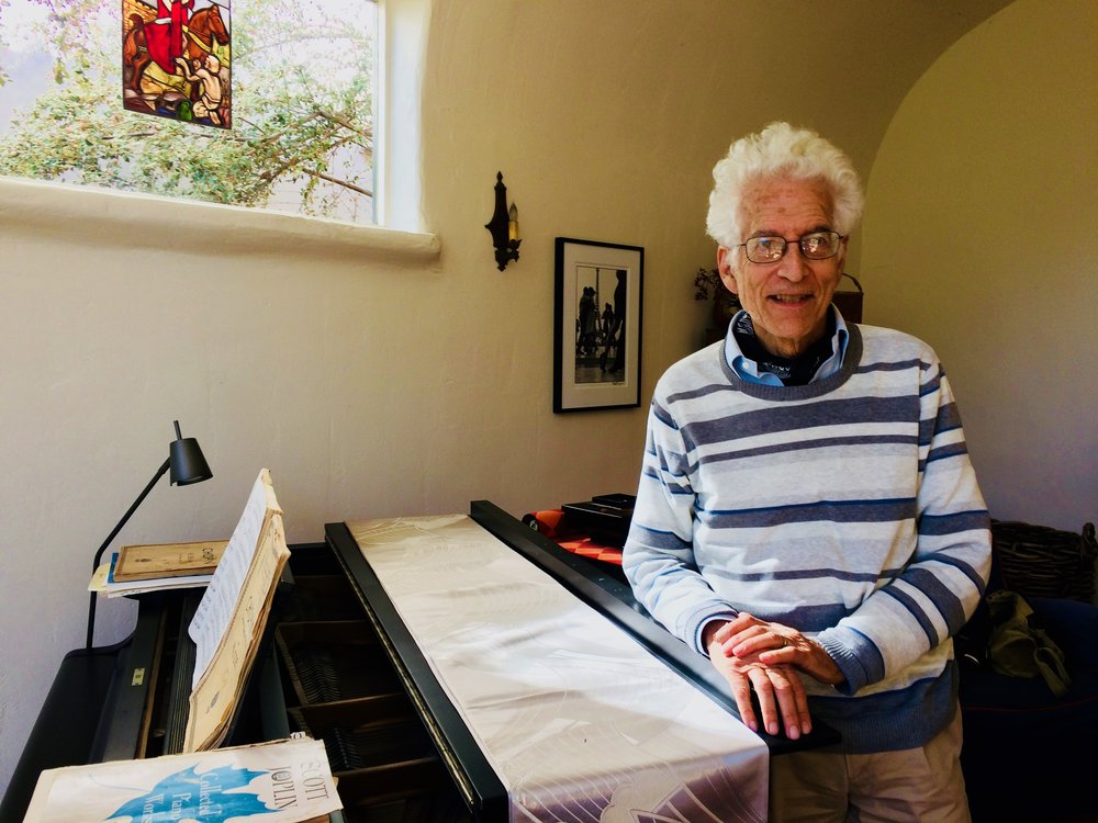 Former Rolling Stone Publisher Alan Rinzler at his home in Berkeley, CA.  Rinzler, after calling Hunter S. Thompson a racist, suggests Oscar Acosta had every reason to feel betrayed by Thompson's portrayal of him as a 300-pound Samoan.
