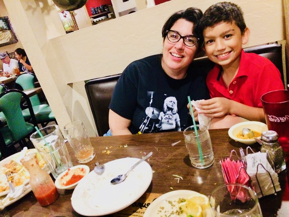 "ASU film instructor Michelle Martinez and her son Elian.  Martinez read classics like ""Bless Me Ultima"" and ""The House on Mango Street"" in college. These stories inspired her lifelong exploration into the Latino narrative - ultimately leading her to teach Oscar Acosta's books."