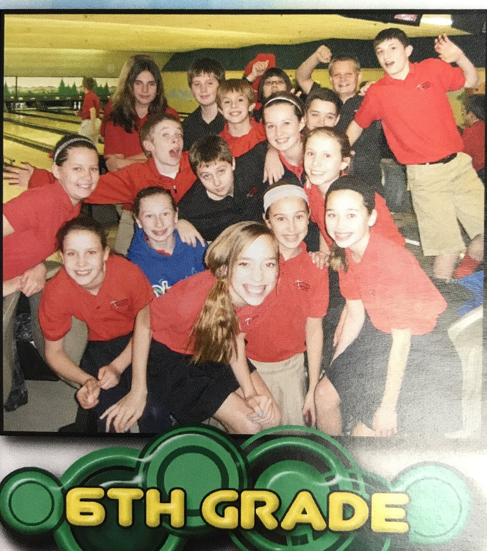 Joey and his 6th grade classmates at the annual bowling trip students at ASLS still enjoy today during National Lutheran Schools Week.