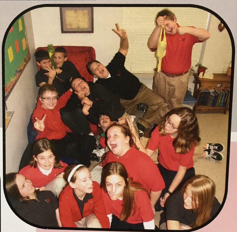 Keenan and his 7th grade classmates in 2011.