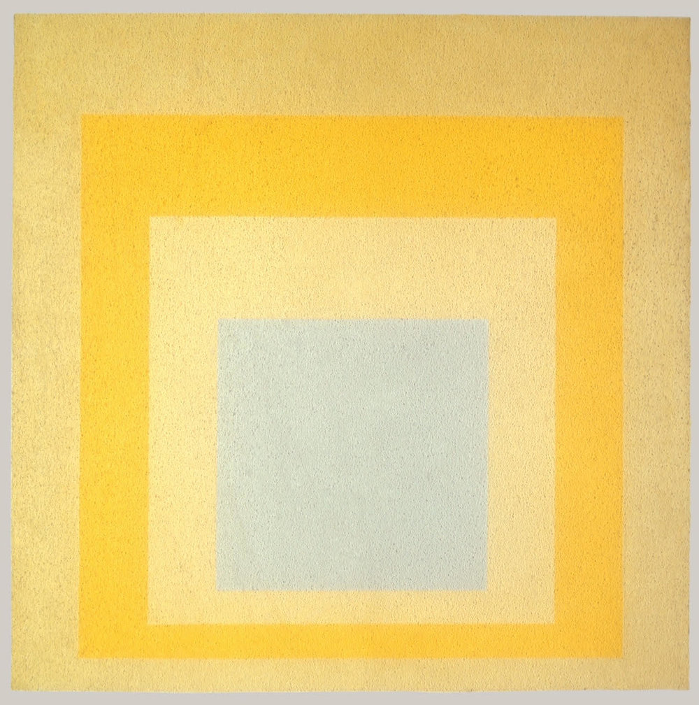 Josef Albers,  Homage to the Square: With Rays , 1959, oil on Masonite, 48 x 48 inches