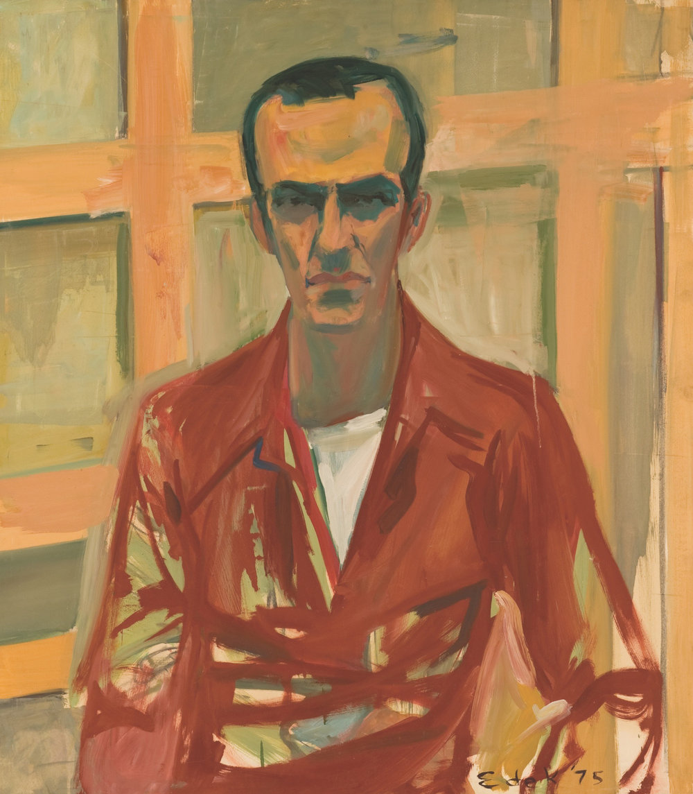 Portrait of Alex Katz , 1975, oil on masonite, 34 x 30 inches, Private Collection, New Jersey