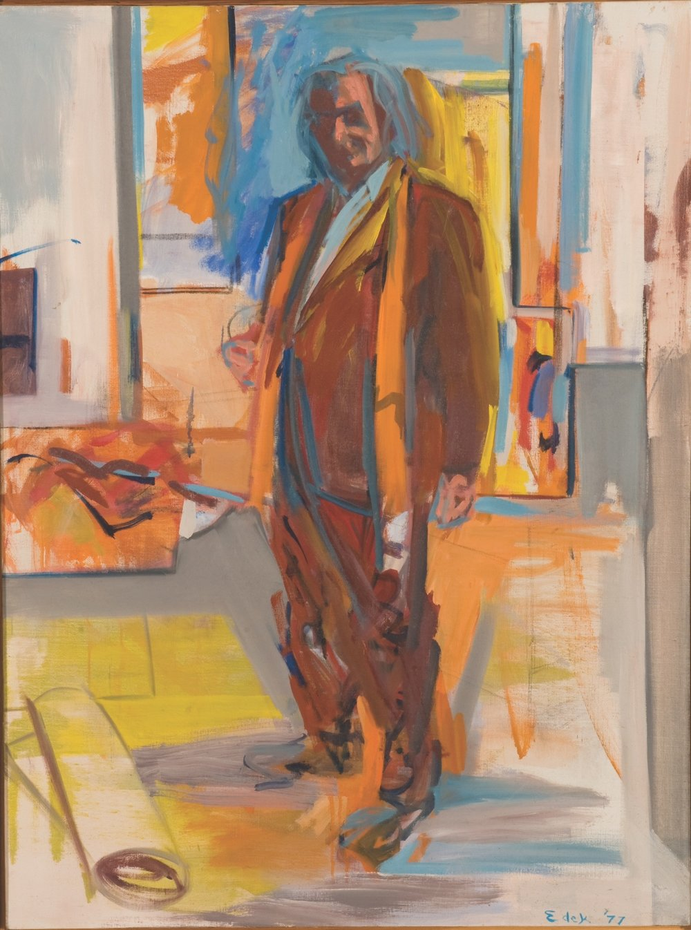 Portrait of Kaldis , 1977, oil on canvas , 40 x 30 inches, Private Collection, Maine