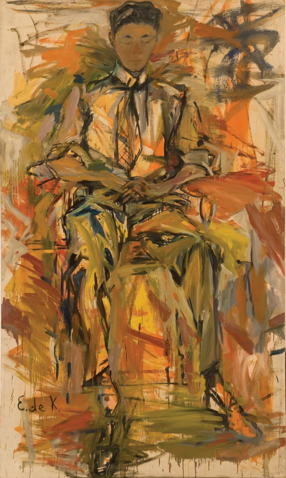 Conrad , 1954, oil on canvas, 80 x 46 inches, Private Collection, Delaware