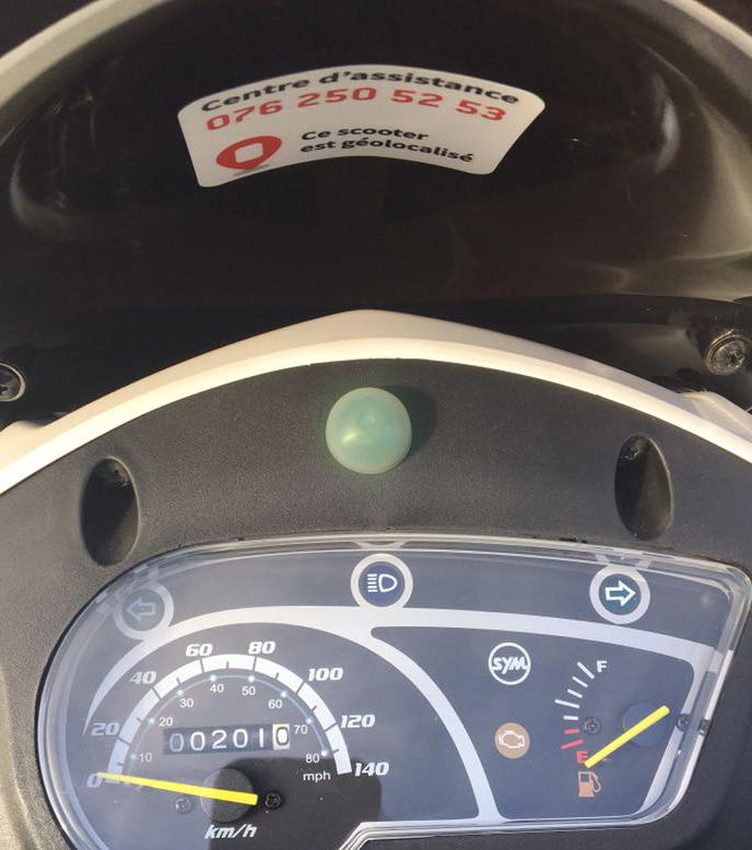Emplacement du bouton  sur le tableau de bord.
