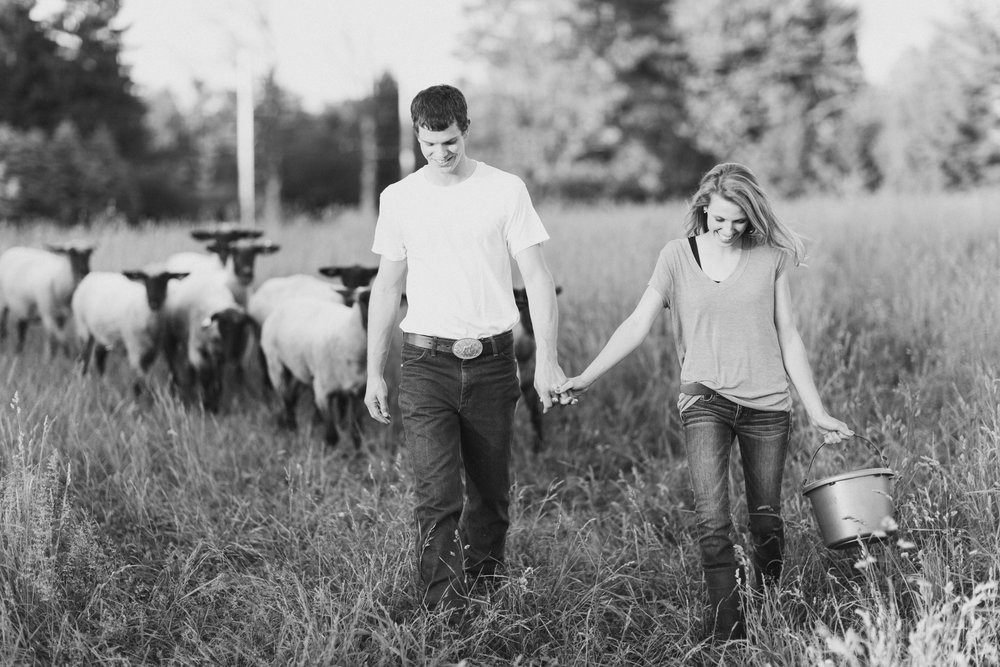I'm Kayla. - & that's Ben my husband. Together we're just a couple of shepherds trying to raise some good ole' sheep, feed some good ole' people, and have a good ole' time while doing it. I joined The Center Cut team because I truly believe people deserve to know where their food comes from. I believe in the future of agriculture. I believe the time for young agriculturalists is now. I believe a balanced diet with good clean food can fix a lot and I believe in raising animals humanely. I know the internet is full of good information on anything and everything you can possibly imagine, but I want this site to be a place you know you can go for the facts. When you're wondering about the rumors, feel free to always ask questions and we will be happy to share our true and real experiences and knowledge.I am confident that you will get food you feel confident about, information you can trust, and a friend you can always go to. Thank you for visiting our page, and I hope you too taste the difference.