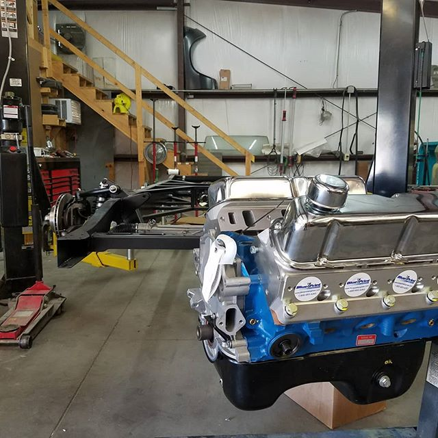 That brand new @blueprint_engines ford 302 stroker is mocked up in the new @tci_engineering frame . . . #skin #bones #skinandbones #skinandbones #skinandbonesfab #fabrication #welding #patch #ford #ford302 #fordf100 #f100 #ford302 #302stroker #1954f100 #1954ford #engineswap #holleyefi #efi #302